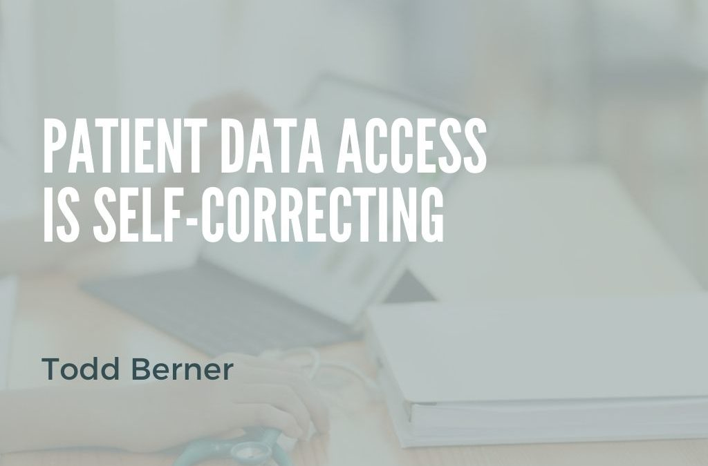 Patient Data Access is Self-Correcting